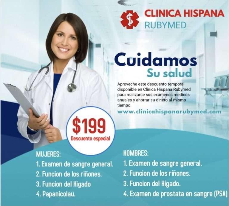 Descuento especiales de la Clinica Hispana Rubymed