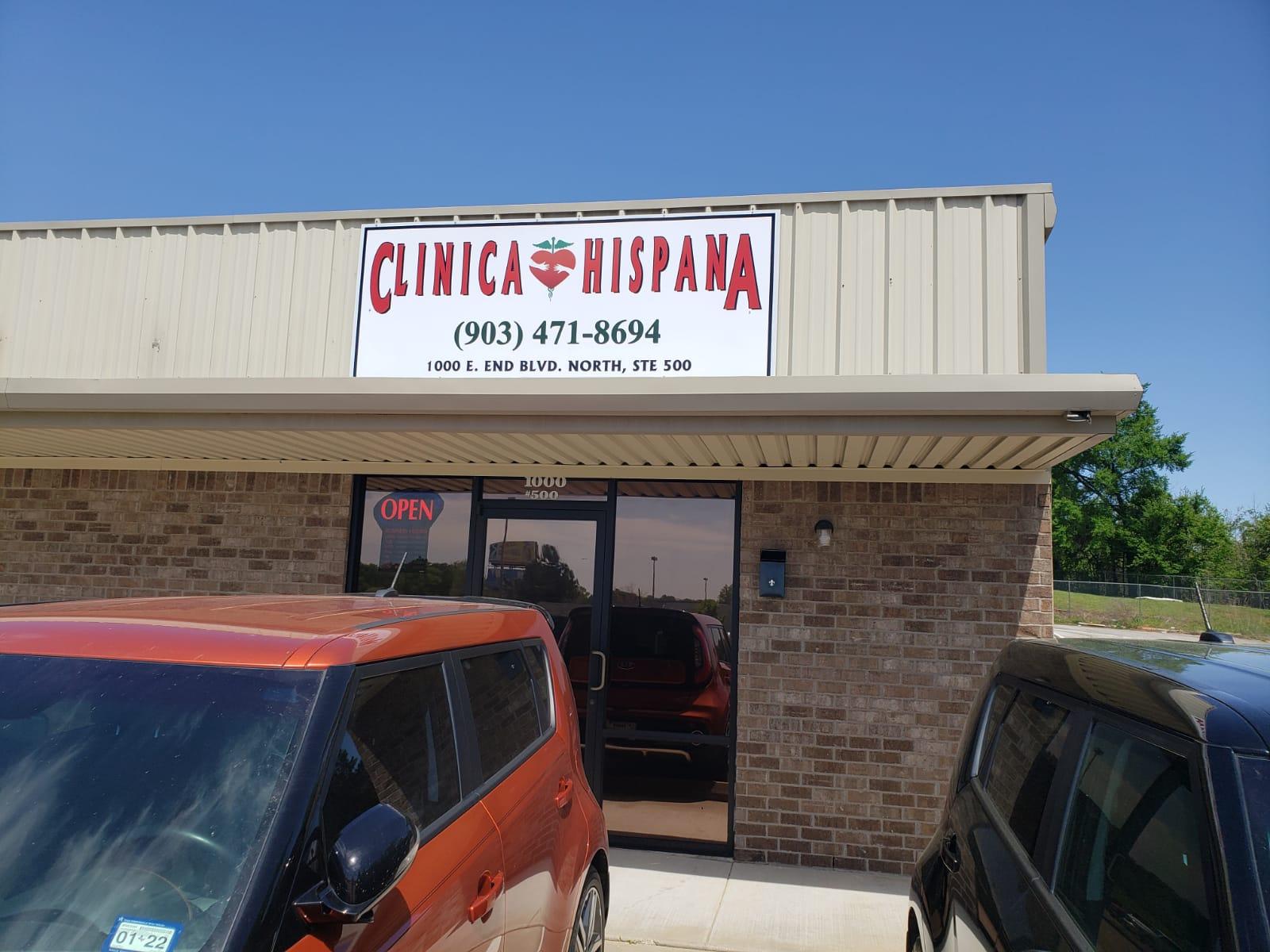 El frente de la Clinica Hispana Marshall TX